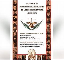 Beatificación de los mártires capuchinos