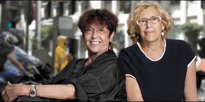 Maruja Torres y Manuela Carmena.