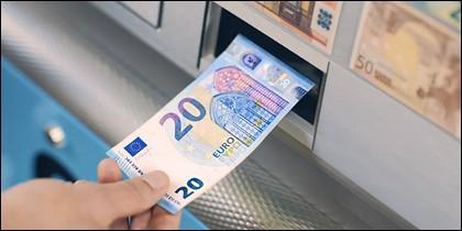 Nuevo billete de 20 euros.