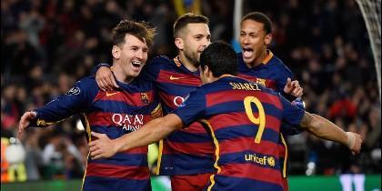 Messi, Jordi Alba, Suárez y Neymar.