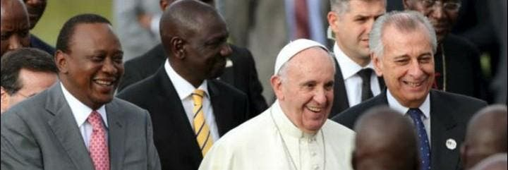 El Papa, con el presidente de Kenia