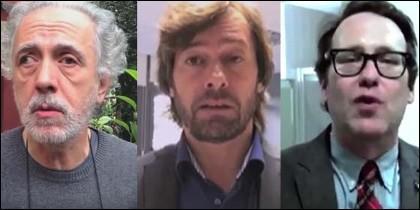 Fernando Trueba, Santiago Pedraz y Joaquín Reyes.