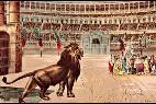 La persecución de los cristianos en el circo de Roma.