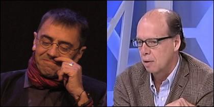 Juan Carlos Monedero y Jaime González.
