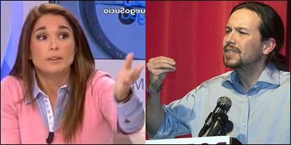 Martu Garrote y Pablo Iglesias.