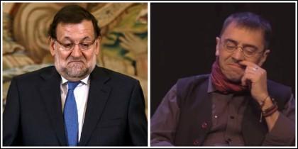 Mariano Rajoy y Juan Carlos Monedero.