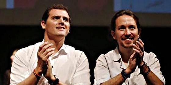Albert Rivera y Pablo Iglesias.