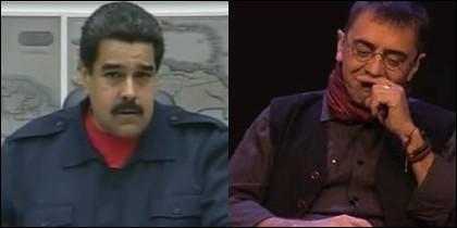 Nicolás Maduro y Juan Carlos Monedero.