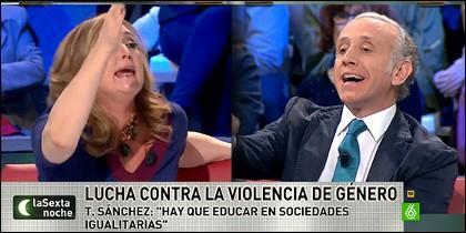 Elisa Beni y Eduardo Inda.