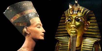 Nefertiti y Tuntankamón.
