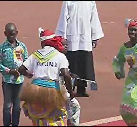 Danzas en misa de Bangui