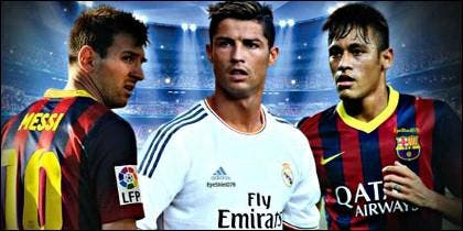 Messi, Cristiano Ronaldo y Neymar.