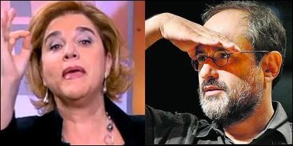 Pilar Rahola y Antonio Baños.