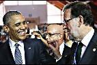 Rajoy y Obama, en la Cumbre del Clima de París.