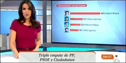 Un polémico gráfico en 'Espejo Público'.