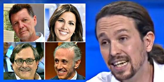 Pablo Iglesias y su obsesión con los periodistas Alfonso Rojo, Ana Pastor, Paco Marhuenda y Eduardo Inda.