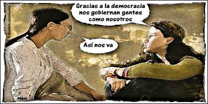 Democracia, elecciones, partidos políticos.