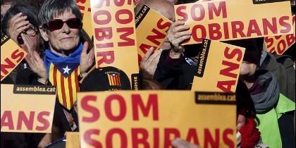 Independentistas en Cataluña.