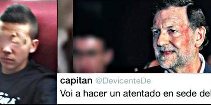 El facineroso de las mareas podemitas que pegó un puñetazo en la cara al presidente Rajoy.