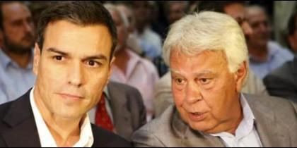Pedro Sánchez y Felipe González.