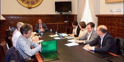 Reunión en la sede de la Diputación de Soria