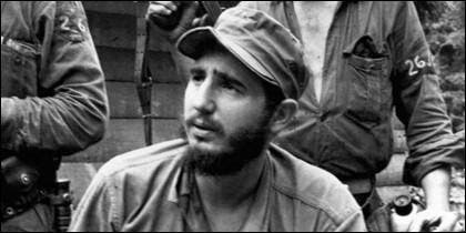 Fidel Castro en Sierra Maestra.