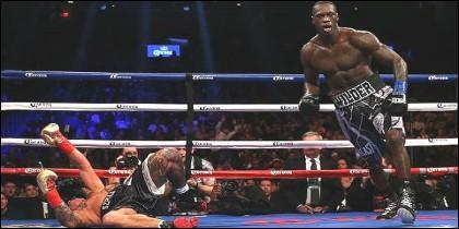 Deontay Wilder derrotando al polaco