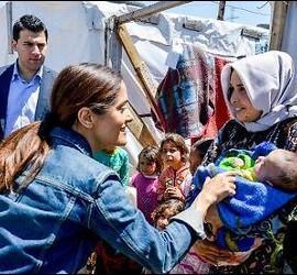 La actriz en Líbano