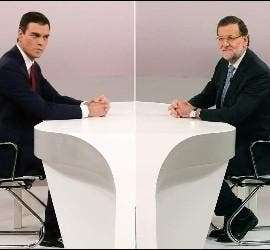 El debate de Rajoy y Pedro Sánchez antes de las elecciones fue muy subido de tono