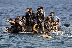 Refugiados en la costa griega
