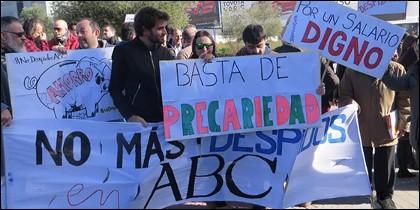 Concentración de trabajadores de ABC.