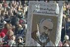 Estandarte del Padre Pío en San Pedro