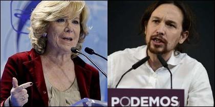 Esperanza Aguirre y Pablo Iglesias.