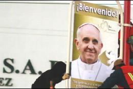Bienvenida al Papa Francisco en Ciudad Juárez