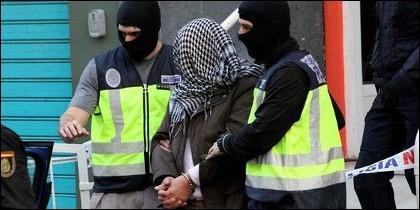 Uno de los yihadistas islámicos detenidos en España.