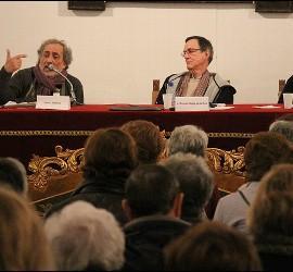 José Chamizo y José Luis Segovia, en el congreso de los dominicos