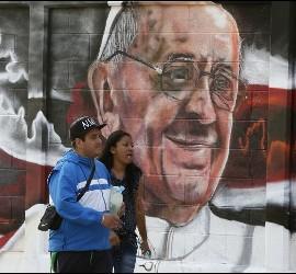 Mural del Papa en Ciudad Juárez