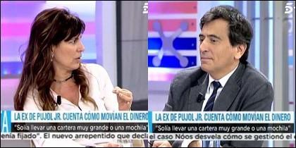María Victoria Álvarez y Arcadi Espada.