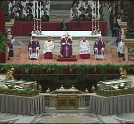 Ceremonia de la ceniza en San Pedro
