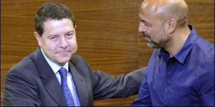 Emiliano García-Page (PSOE) y José García Molina (Podemos).