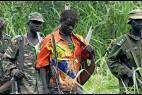 Soldados de la LRA de Joseph Kony, en Bakouma