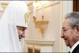 El Patriarca Kirill y Raúl Castro
