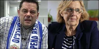 Tomás Roncero y Manuela Carmena.