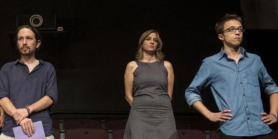 Pablo Iglesias, Íñigo Errejón y Tania Sánchez.