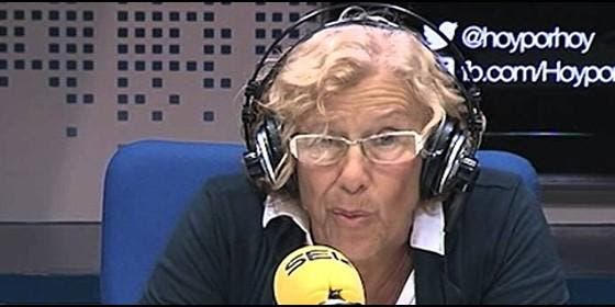 Manuela Carmena en la Cadena SER.