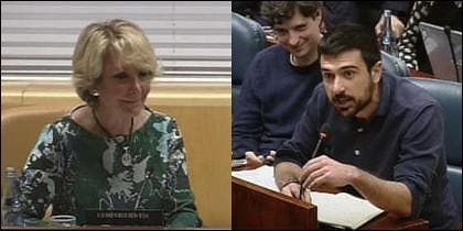 Esperanza Aguirre y Ramón Espinar.