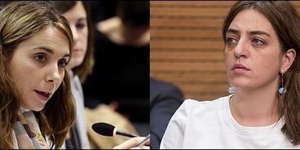 Mar Espinar (PSOE) y Celia Mayer (Ahora Madrid-Podemos).