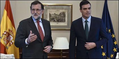 Rajoy y Pedro Sánchez, dos no hablan si uno no quiere.