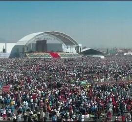 Panorámica de la misa en Ecatepec