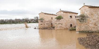 Crecida del Duero a su paso por Zamora.